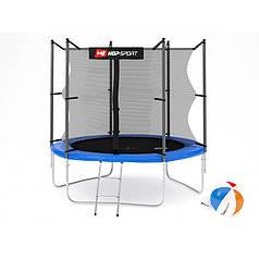 Батут с внутренней сеткой Hop-Sport 244 см Blue