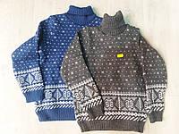 Детский вязаный свитер под горло для мальчика, фото 1