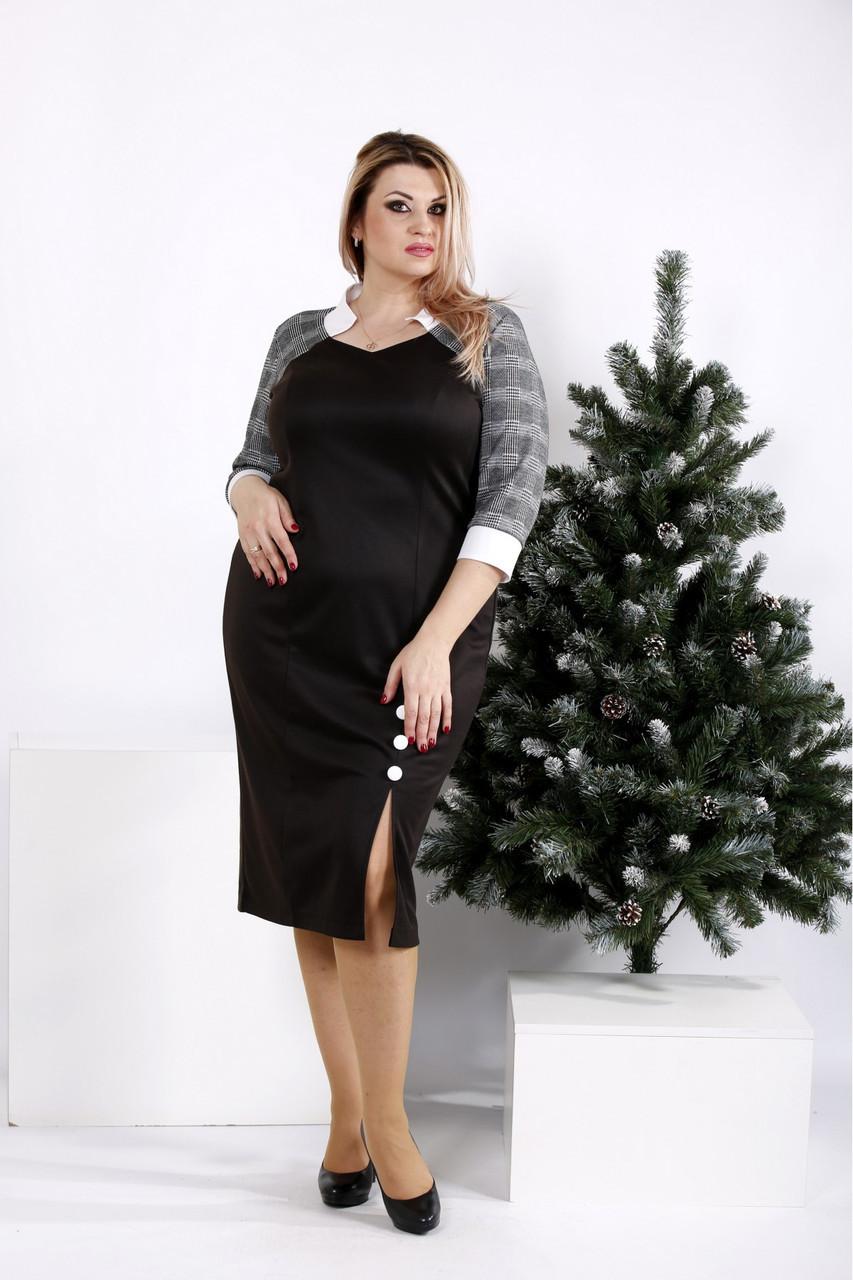 Платье больших размеров 0969 черное (54-74)