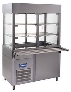Витрина холодильная кондитерская напольная КИЙ-В ВК-1500 Классик