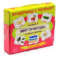 Развивающая игра Карточки Домана Выпуск 2 Мир природы «Вундеркинд с пеленок» - 6 наборов