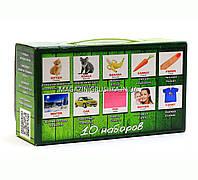 Развивающая игра Карточки Домана Англо-русский чемоданчик «Вундеркинд с пеленок» - 10 наборов