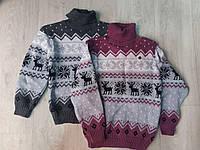 Детский вязаный свитер на мальчика под горло, фото 1