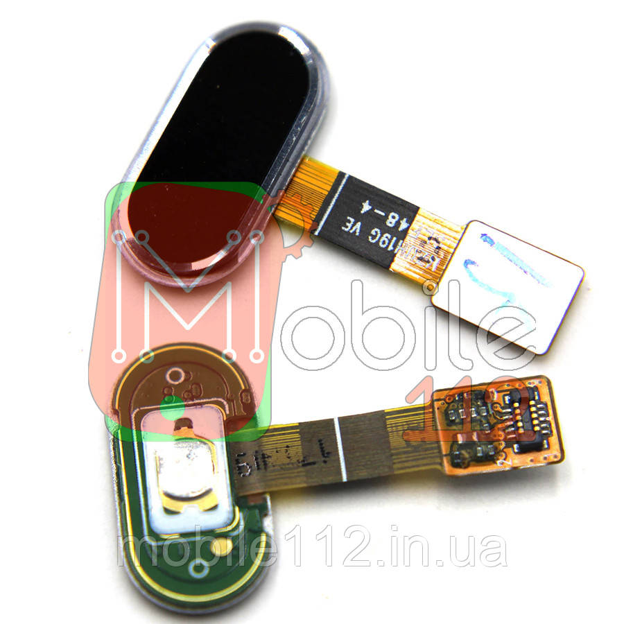 Шлейф для Meizu M5 (M611), с кнопкой меню (Home), черного цвета