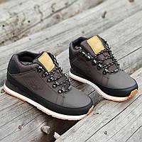 Кроссовки ботинки зимние кожаные New Balance 754 реплика мужские темно коричневые легкие удобные (Код: 1293a)