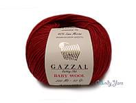 Gazzal Baby Wool, бордо №816
