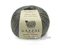Gazzal Baby Wool, стальной №818