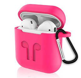 """Чехлы для наушников  Silicone Case AirPods (с карабином)  """"Raspberry""""(реплика)"""