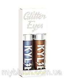 Жидкие тени для глаз Kylie VIOLET MOON + DESTINY | GLITTER EYES