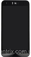Дисплей (экран) для Asus ZenFone Selfie (ZD551KL) + тачскрин, черный, с передней панелью, фото 1