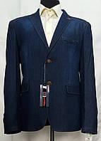 Джинсовый мужской пиджак больших размеров Victor Enzo 7035