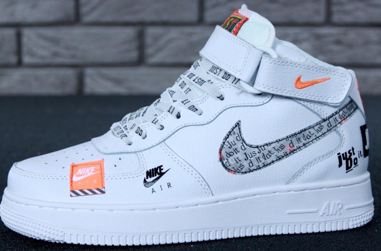 ae450e17 Мужские кроссовки Nike Air Force 1 High Just Do It White - интернет-магазин  обуви