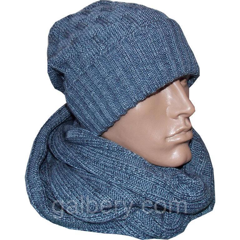 Зимняя шапка носок и снуд