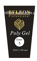 Poly Gel BELEON  №1 Clear, фото 1
