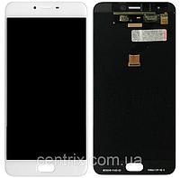 Дисплей (экран) для Meizu M3x мейзу + тачскрин, цвет белый