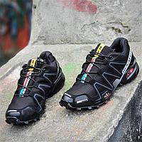 a0e4dfd4 Кроссовки спортивные реплика мужские черные легкие для бега эластичная  подошва (Код: 1276a)