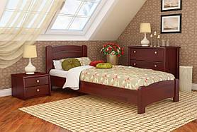 """Односпальне ліжко """"Венеція люкс"""" з бука (щит, масив)"""