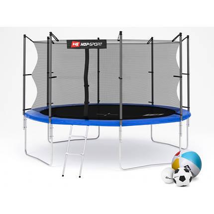 Батут с внутренней сеткой Hop-Sport 366 см Blue, фото 2