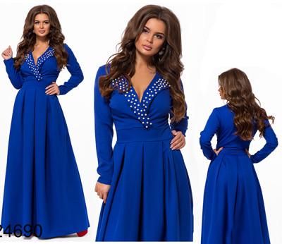 d226faae081 Купить Длинное нарядное женское платье длинный рукав 824690 Украина ...