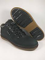 Ecco ботинки мужские comfort из натуральной кожи реплика на меху чёрный
