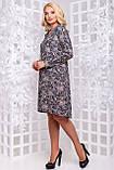 Очаровательное Повседневное платье расширенное к низу  50-54р, фото 3
