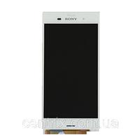 Дисплей (екран) для Sony D6603 Xperia Z3, D6643, D6653 + тачскрін, колір білий, з передньою панеллю