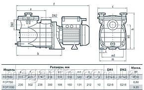 Насос для бассейна Sprut FCP 750, фото 2
