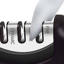 Точилка для ножей AWESE 3-х этапная + овощечистка, фото 2