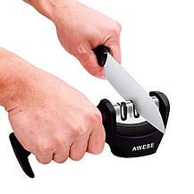 Точилка для ножей AWESE 3-х этапная + овощечистка, фото 3