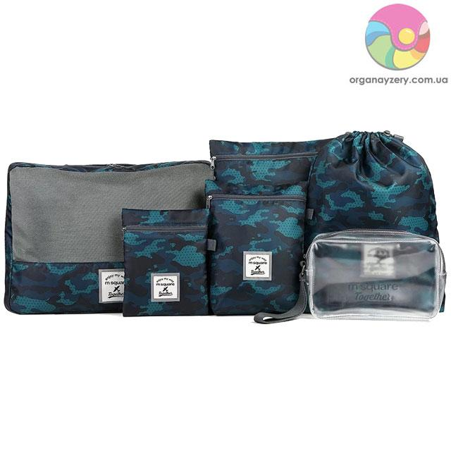 d1dd0cdd2021 Набор дорожных сумок в чемодан M Square (синий) - купить в Украине ...