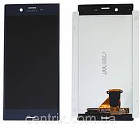 Дисплей (екран) для Sony F8331 Xperia XZ, F8332 + тачскрін, колір синій, Forest Blue, оригінал