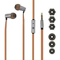 Наушники GGMM Alauda EJ-401 цельнометаллические, микрофон, оранжевые, фото 1