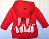Детская утеплённая куртка для девочки оптом 3-6 лет