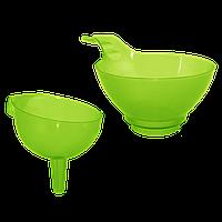 Воронка для банки с ручкой Зелёный