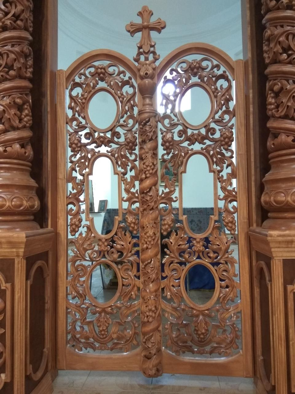 Царские врата  из дерева,Барокко,220/120/65