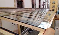 Крыши из стекла.