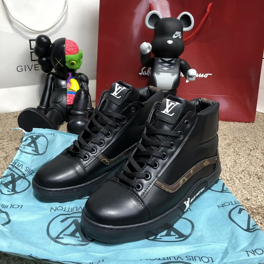 Мужские кроссовки Louis Vuitton Oberkamf Sneakers Monogram/Black