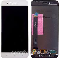 Дисплей (экран) для Xiaomi Mi A1/Mi5x + тачскрин, цвет белый