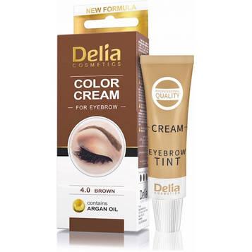 Delia Крем-краска для бровей с маслом арганы коричневая