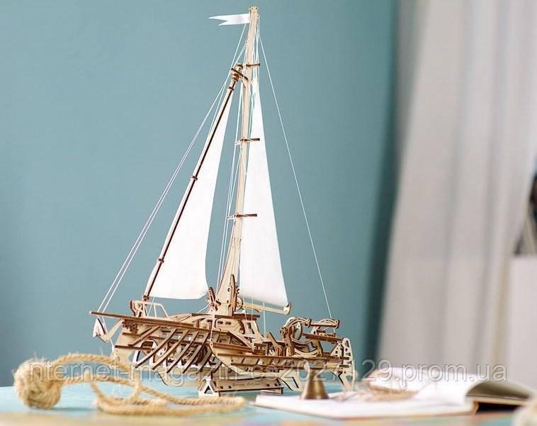 Дерев'яний конструктор-пазли судно «Тримаран Меріхобус»
