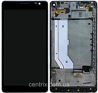 Дисплей (экран) для Microsoft 950 XL Lumia Dual Sim + тачскрин, черный, с передней панелью, оригинал