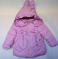 Детская утеплённая куртка для девочки оптом 2-5 лет , фото 1