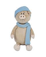 Свин Бен с шарфом и шапкой, 22 см Maxi Toys (MT-MRT031801-22), фото 1