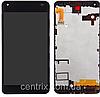 Дисплей (экран) для Microsoft 550 Lumia + тачскрин, черный, с передней панелью, оригинал
