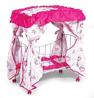 Кроватка для кукол с балдахином 9350/015 железная