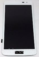 Дисплей (экран) для LG X210 K7, X210DS + тачскрин, белый, фото 1