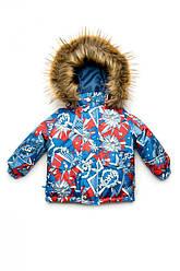 "Куртка зимняя  ""Boom!"", Модный карапуз, размеры 110, 116"