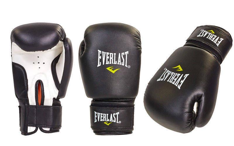 Детские боксерские перчатки EVERLAST MA-0033-черные размер 4 унц.