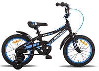 """Велосипед 16"""" PRIDE ARTHUR черно-синий матовый 2015"""