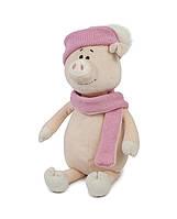 Свинка Аша с шарфом и шапкой, 22 см Maxi Toys (MT-MRT031804-22), фото 1